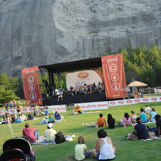 Concerts and other special events occur regularly on Memorial Lawn at Stone Mountain Park.