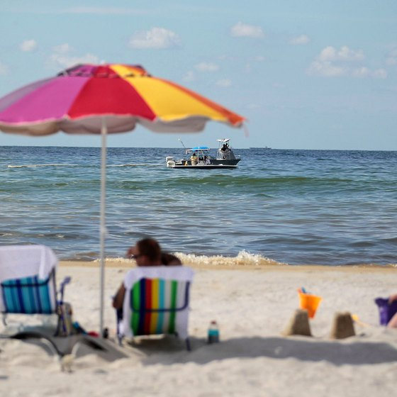 The Alabama Gulf Coast includes the popular beach resort towns of Orange Beach and Gulf Shores.
