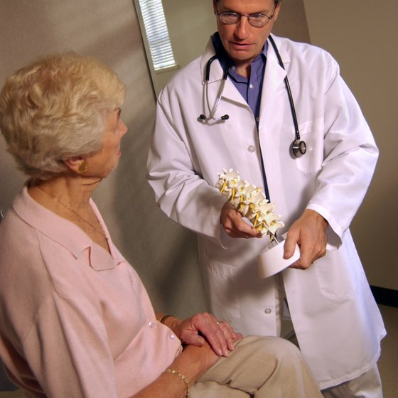 Osteoporosis most commonly afflicts post-menopausal women.