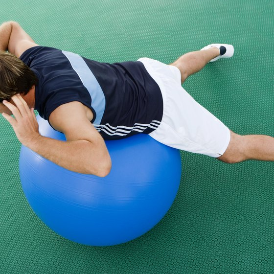 Extensions on a ball builds lower-back strength and improves stability.