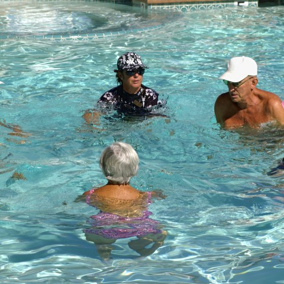 Water aerobics enhance strength, flexibility and cardiovascular fitness.