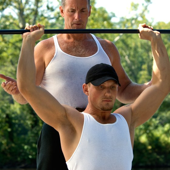 Ask a partner to spot you on heavy sets.