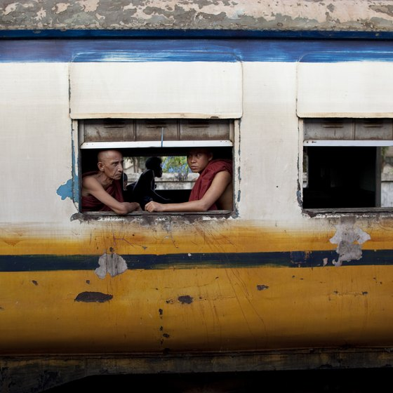 Trains in Southeast Asia show a slice of local life.