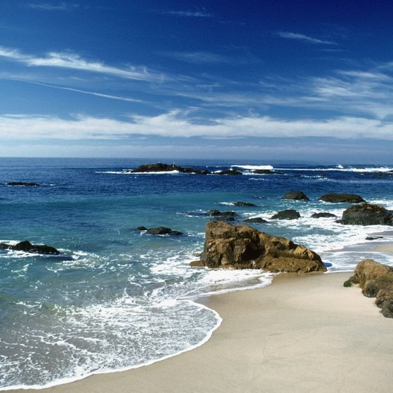 Sandy beaches and blue water are among Half Moon Bay's treats.