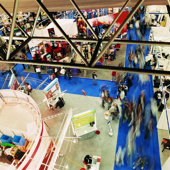 Business trade shows are good places to meet prospective franchisees.