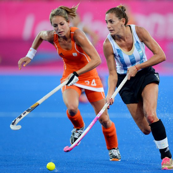 Field hockey is a fast-paced game played by both men and women.