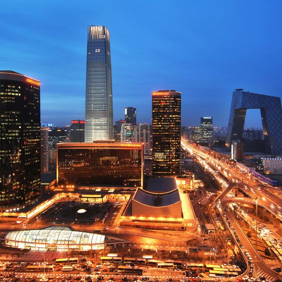 Downtown Beijing is in the massive Chaoyang District.