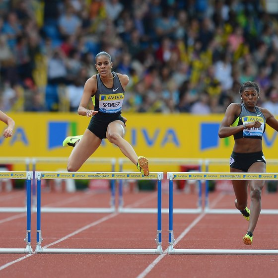 The 400-meter hurdles is one of the toughest events in track.