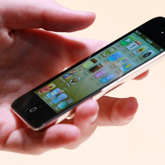 Use the iPod's virtual keyboard to type in Internet searches.