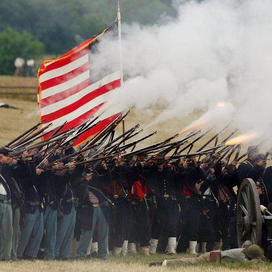 Reenactors stage the famous battle at Gettysburg that ultimately made the small Pennsylvania town the third most haunted city in America.