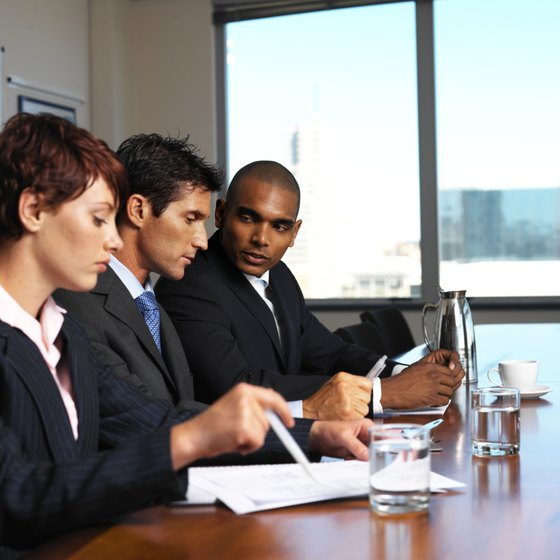 HR staff regularly meet to discuss day-to-day operations.