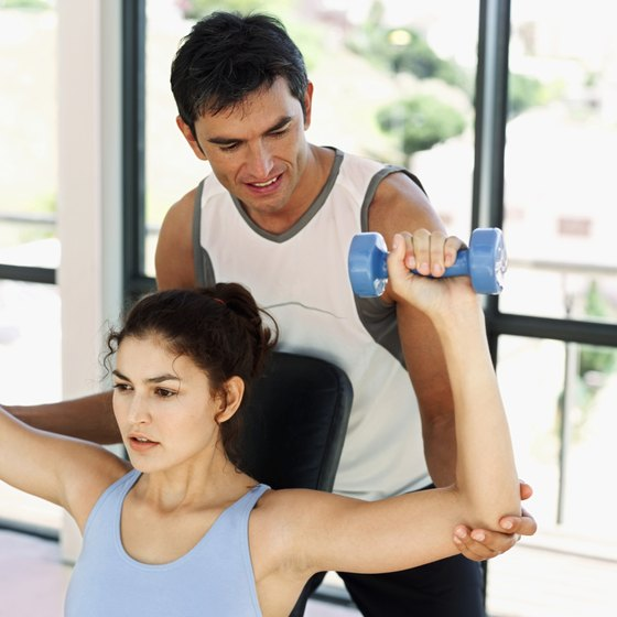 A personal trainer can help you feel more comfortable in the gym.