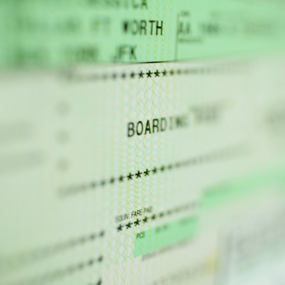 Most airline tickets feature times using the 24 hour clock.