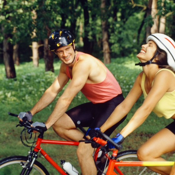Cycling can help trim your waist.