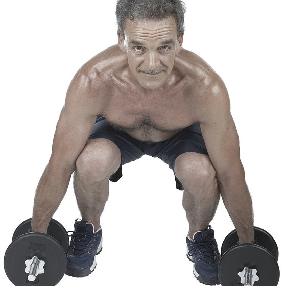 Sumo dumbbell deadlifts strengthen your inner-thigh muscles.