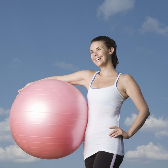 Workout balls add interest and support to any workout.