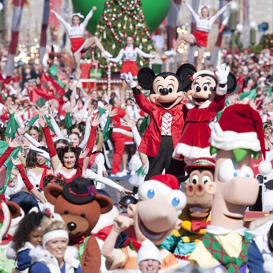 Disney World starts celebrating the holidays in November with special parades and shows.