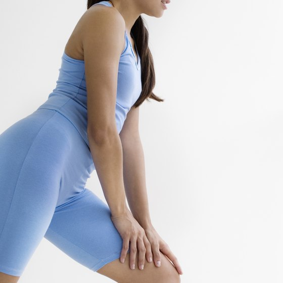 Strengthen your knee joint by doing quadriceps exercises.