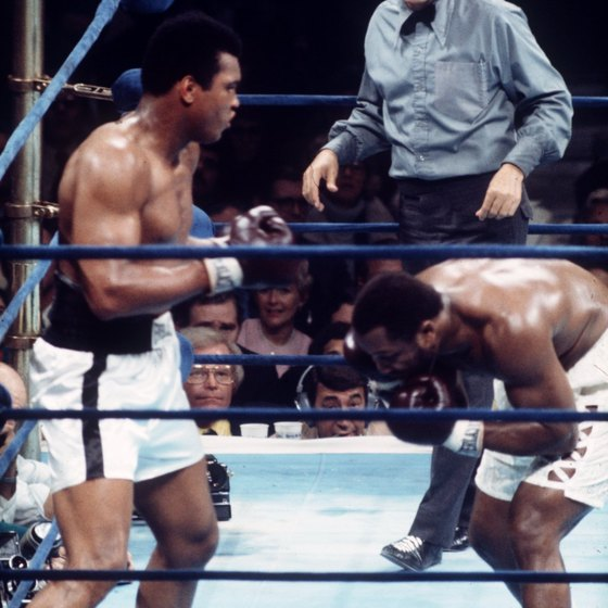 Muhammad Ali used the Ali shuffle in many fights.