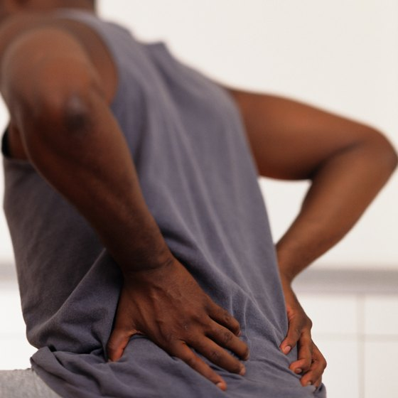 Lower back pain often comes on quickly but may take weeks to subside.