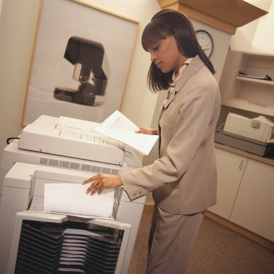 Tally your copier's counter before and after you copy to find out the length of your document.