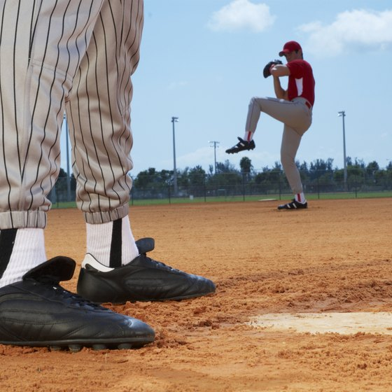 Baseball pitcher winding up