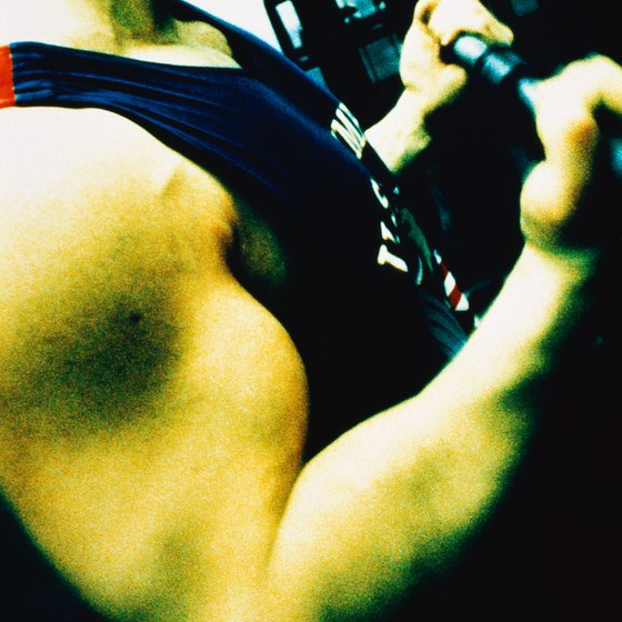 Work biceps with curls.