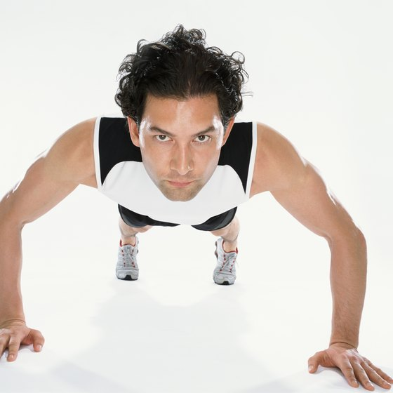 Pushups are an anytime muscle-building exercise.