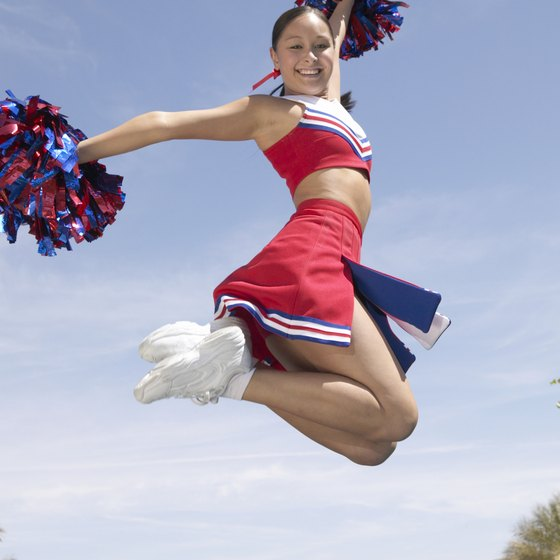 Exercise to stay in top cheerleading shape.