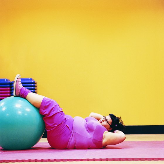You can do a variety of ab exercises on an exercise ball.
