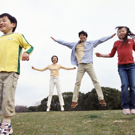Aerobic steps can be a fun way to keep children fit and healthy.