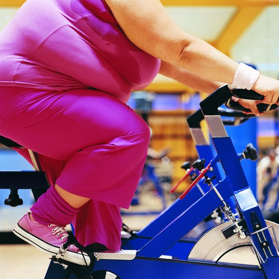 Stationary cycling burns fat.
