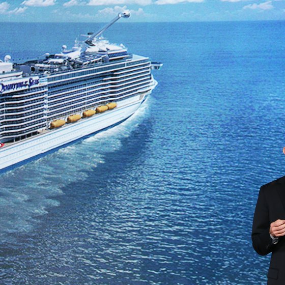 The president of Royal Caribbean, Adam M. Goldstein, announced the cruise line's new Galaxy-class ships in 2013.