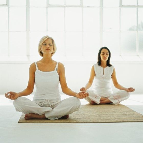Create a yoga mat from an area rug.