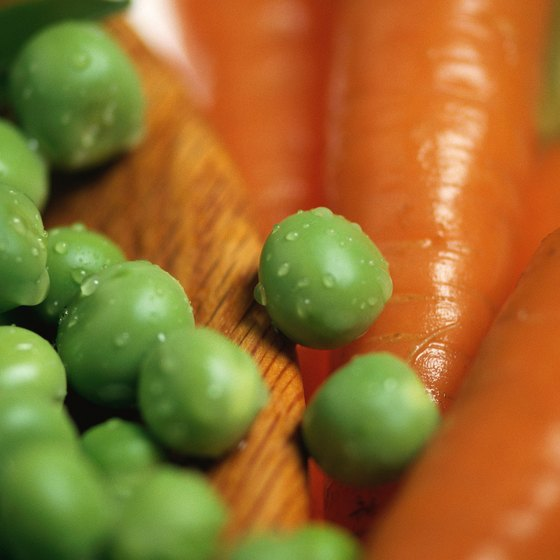 Peas and carrots combine to make a dish rich in vitamins A and C.