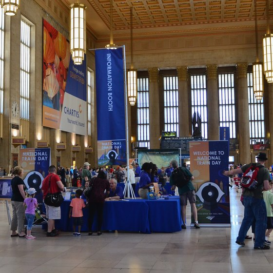 The 30th Street Station serves long-distance and local travelers.