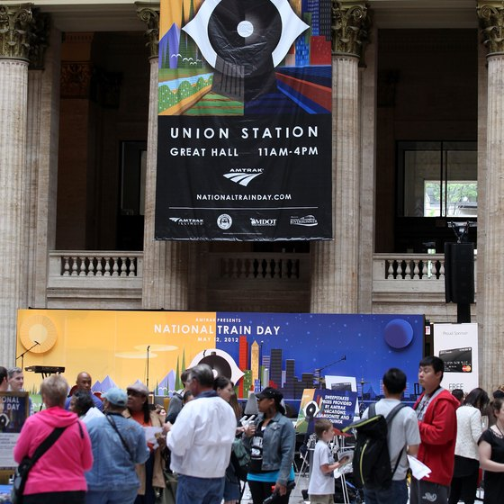 Union Station is Chicago's connection to the Amtrak rail service.