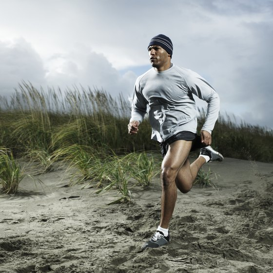 Sprinting on sand requires slightly different body mechanics from sprinting on the track.
