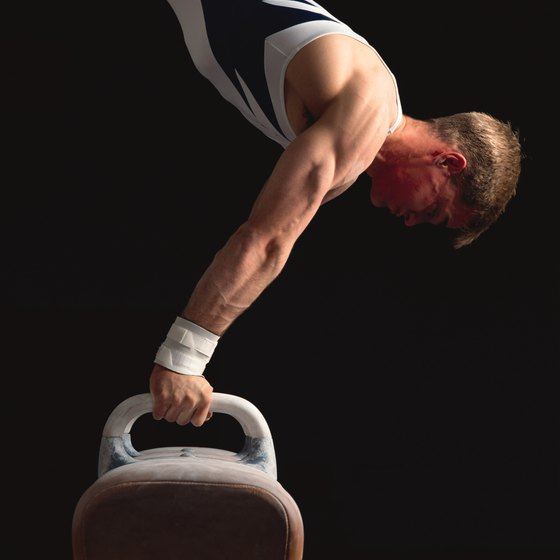 Pommel horse is one of the events in men's artistic gymnastics.