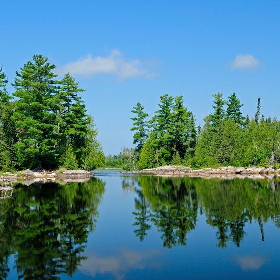 Motor bans on the lake in Quetico Provincial Park create a tranquil environment.