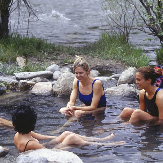 Relax in a hot spring along the Kern River near Lake Isabella.