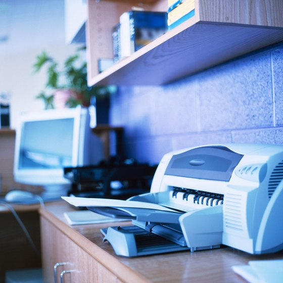 Use Windows system tools to manage local and network printers.