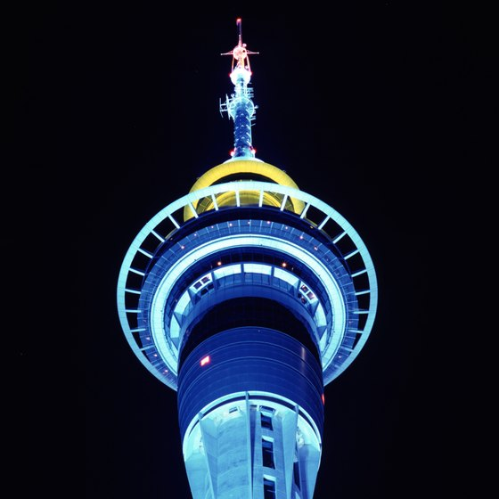 Auckland's Sky Tower is the tallest man-made structure in New Zealand.