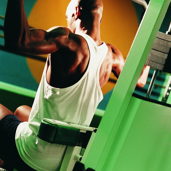 Weight machines allow beginners to learn the basics of an exercise.