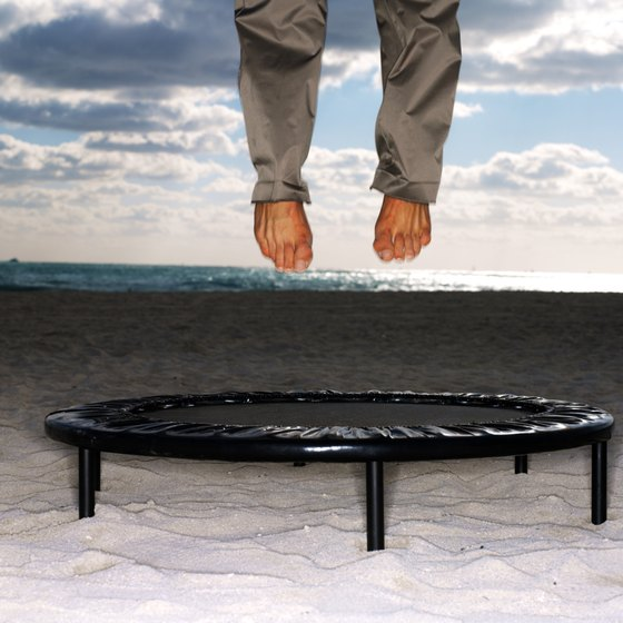 A few basic moves on a trampoline provide a fun and effective workout.