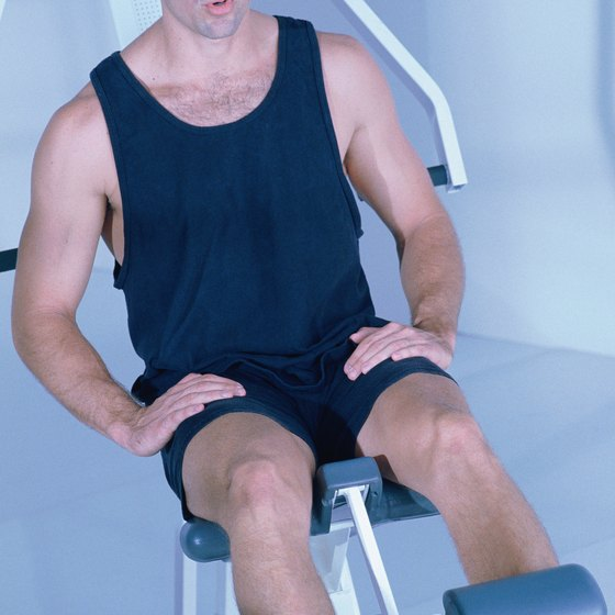 Exercise machines can help stretch and strengthen your hamstrings.