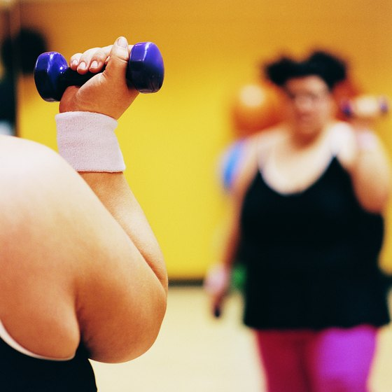Strength training helps slim down the elbows.