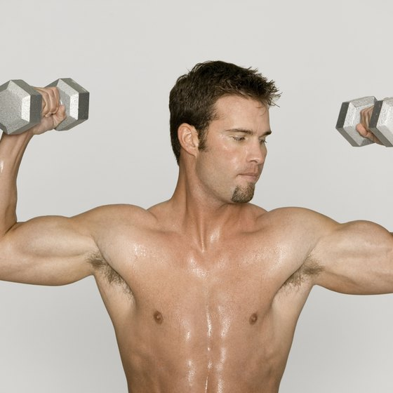 Dumbbells are a good tool for building arm muscle.