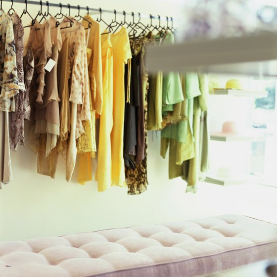 Seeing your clothing on a boutique's racks requires strategic marketing tactics.
