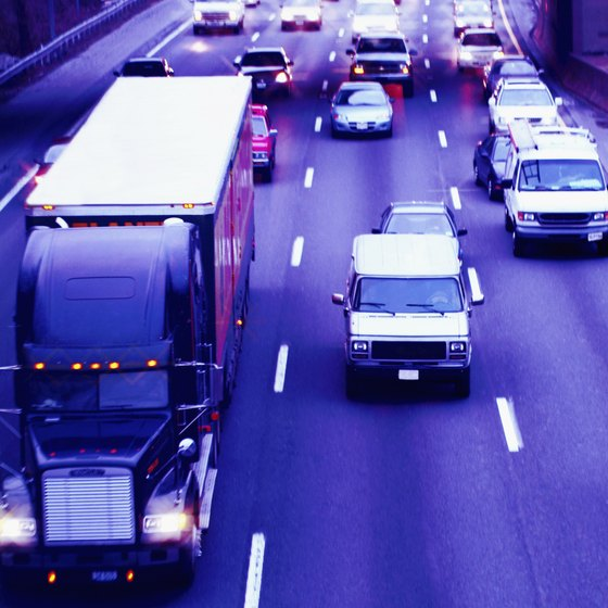 Truckers' daily pay varies according to miles driven.